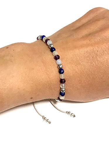 KARMA GEMS Migraines & Headaches Healing Balance Bracelet - Adjustable