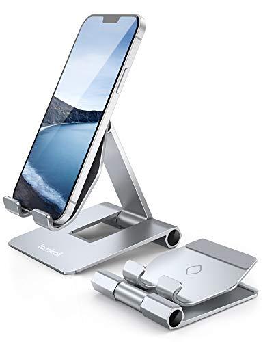 Lamicall Supporto Telefono Regolabile, Dock Telefono - Pieghevole Supporto Dock per iPhone 12 Mini, 12 PRO Max, 11 PRO, XS Max, XS, XR, X, 8, 7, 6 Plus, Samsung S10 S9, Scrivania, Tablet e Smartphone