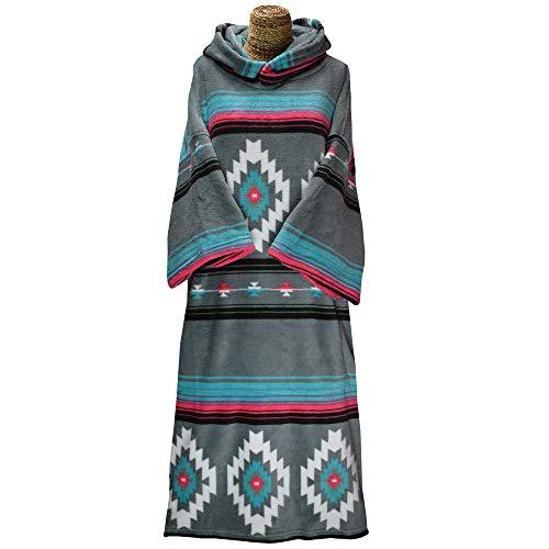 TLS Capuchon Poncho of veranderende badjas handdoek voor strand watersport & surfen - Change Robe Native - Unisex