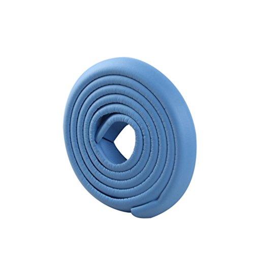 Lvguang Baby L-förmige Glatt Kantenschutz Länge Eckenschutz Tischkante Kissen Beschützer (Blau,2000mm*35mm*12mm)