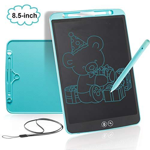 bhdlovely Tableta de Escritura LCD 8.5Pulgadas con Borrado Parcial, Tableta gráfica Tablet para niños, Portátil Tablero de Dibujo Doodle Manualidades para Niños y Adultos, Clase, Casa, Oficina(Azul)