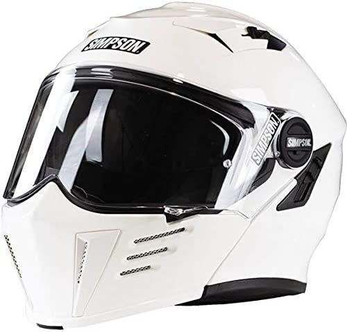 Simpson Unisex-Adult M59XS1 Mod Bandit White free Xs Great interest