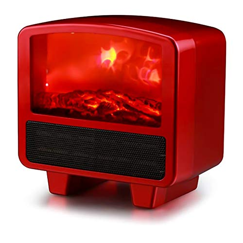 Electric Fireplace Heater,220V Flame Effect Mini-Fireplace Heater Overheating Protection Patio Heaters for Home Dance Party,500W~1000W