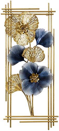 ZHICHUAN Decoración de Metal Flor de Pared, de Metal Hoja Del Ginkgo Pared Del Arte, Decoración de Interiores, Arte de la Naturaleza, la Sala de Estar Colgados de la Pared de Fondo