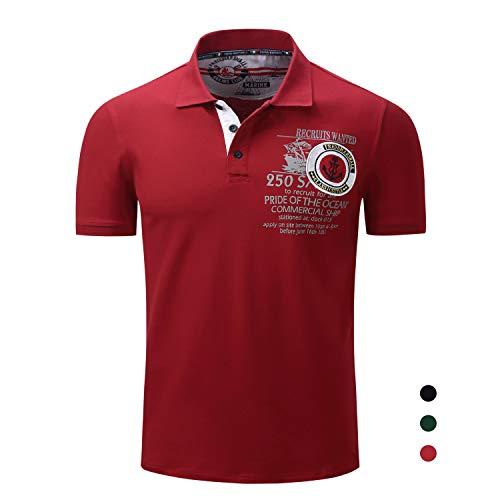 Adidase Poloshirt aus Baumwolle für Herren,Revers Kurzarmhemd Besticktes Drucken Poloshirt,3,3XL
