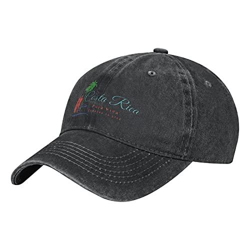 Costa Rica ndash; Pura Vida ndash; Surfing is Life gorra de béisbol ajustable cómoda gorra Vitage sombrero negro