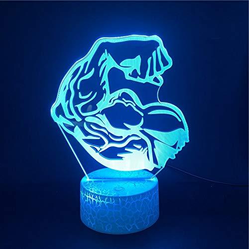 Herkules Bright Supply Direktversorgung Halloween 3D LED Nachtlicht USB Tischlampe Kindergeburtstag Geschenk Nachtdekoration am Bett