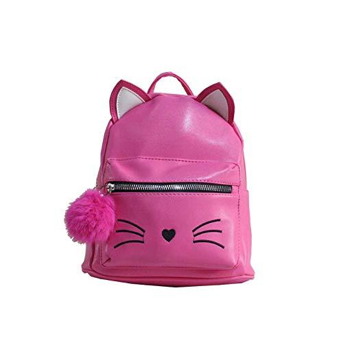 HavanaYZ Mini-Rucksack für Mädchen, Katzen-Motiv, Schulranzen, Büchertasche, Studenten-Rucksack rose pink
