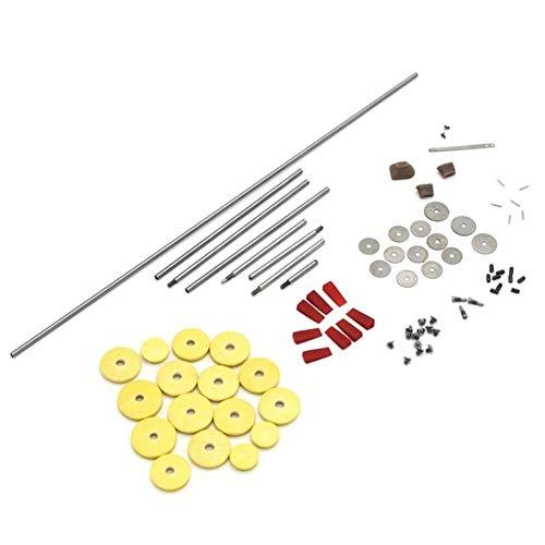XIAOFANG 80pcs / Set Flute Ersatzteile Werkzeug Maintenance Kit Schrauben + 16pcs offenes Loch Soundpads Holz DIY Zubehör (Color : Light Yellow)