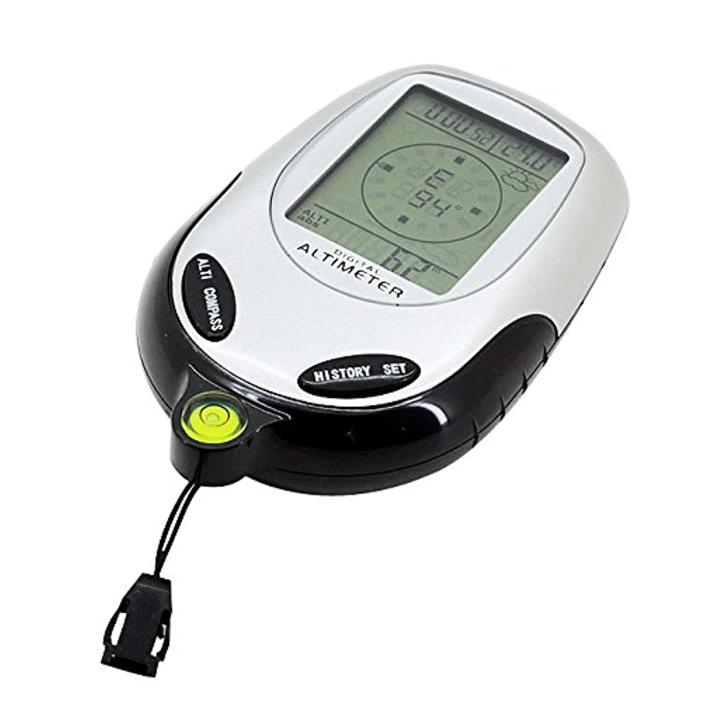 ボウル役員退屈させるLIJIAN コンパス&気圧計&温度計&勇敢な予報と時計付き1多機能デジタル高度計に付き6