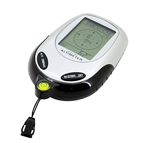 Creatieve 6 In 1 Multifunctionele Digitale Hoogtemeter met kompas & Thermometer & Weersverwachting & Barometer en Klok Multifunctie