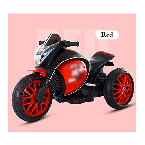 Find Bargain JMFHCD Children's Electric Motorcycle, for Toddlers Aged 3 + Years Battery Powered 3 Wh...