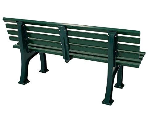 Wetterfeste Parkbank 3-sitzer, Kunststoff grün - 3