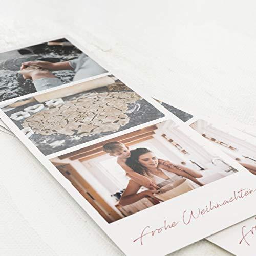 sendmoments Wir drucken Ihre Fotos, 5 Fotoabzüge im Digitaldruck, hochwertige Fotodrucke, Weihnachts-Fotos im Retro-Look, individuell mit Text verziert, optional mit Goldfolie veredelt