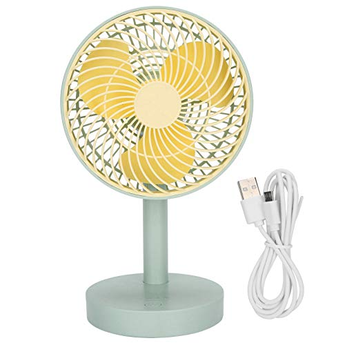 Ventilador de Escritorio USB, Ventilador de Escritorio de 90 Grados, Cabezal de Sacudida automático, 4 Engranajes, silencioso, Ventilador de Escritorio con Carga, Ventilador portátil silencioso para