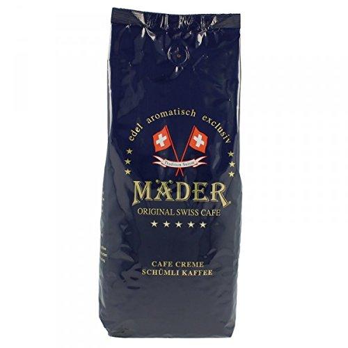 Mäder Creme Classic, Espresso-Kaffee ganze Bohne, 1000 g