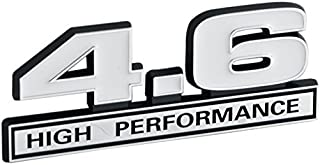White & Chrome 4.6 High Performance Emblem