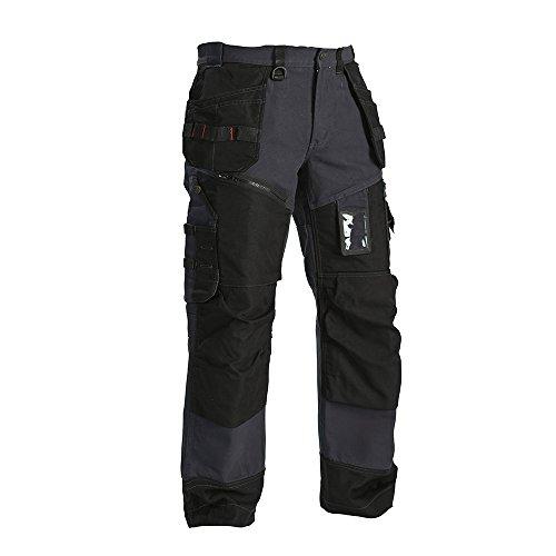 'BLÅKLÄDER 4930 Werkkleding Gebreide Jas met Softshell, 67 49302117 D116 Steel Blue/Black