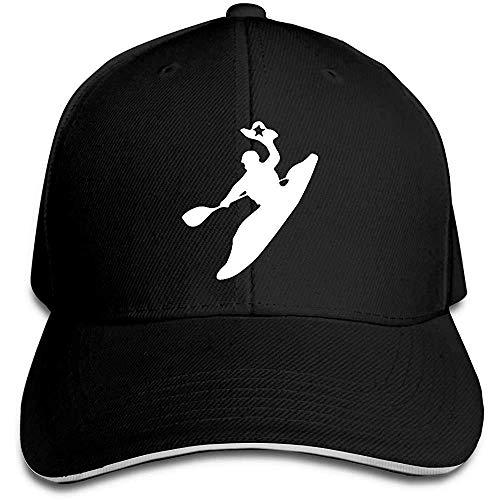 Yuanmeiju Unisex Gorra de Beisbol Rodeo Kayak Cotton Flat Hat Adjustable Fashion Sports and Outdoors Caps Black