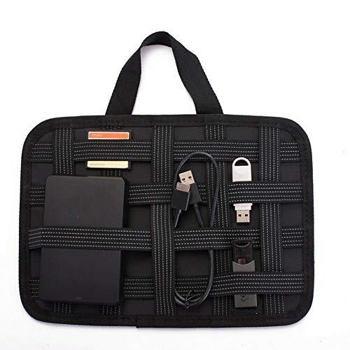 HYDYH Aufbewahrungstasche Neue tragbare Elektronik Zubehör Organizer Travel Storage Handtasche Drive Case handlich, schwarz