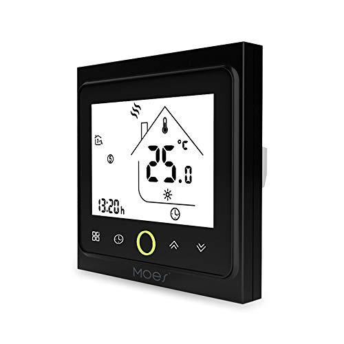 Blusea Wi-Fi Smart Thermostaat Temperatuur Controller APP Control 5A Compatibel met Alexa/Google Home Water Verwarming voor Thuis - Wit