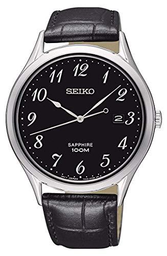 Lorus Herren Analog Quarz Uhr mit Leder Armband SGEH77P1