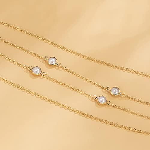 TWDYC Exquisite Minimalism Waist Belly Chain Waist Beads Body Chain Women Girls Body Summer Korean Fashion Jewelry Accessories Gifts (Color : Gold, Size : 75+30 cm)