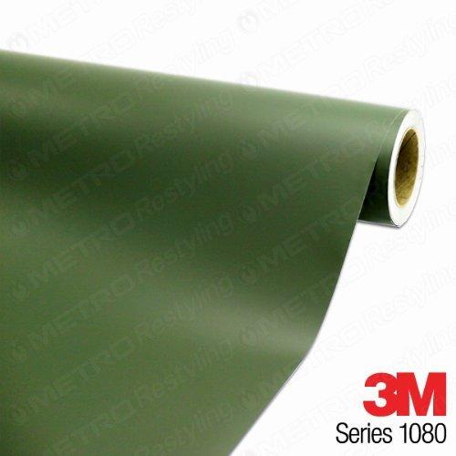 3M 1080 M26 MATTE MILITARY GREEN 5ft x 15ft (75 sq/ft) Car Wrap Vinyl Film