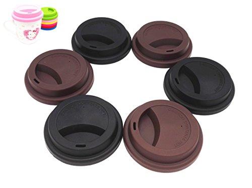 Tapas de silicona para bebidas a prueba de derrames, tapas reutilizabl