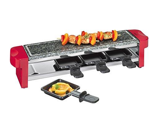 Küchenprofi 1781001400 Raclette Hot Stone Quattro, rot
