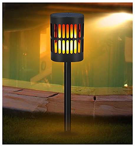 ZHMIAO Luz LED solar con llama Hung recargable por USB, para exteriores, jardín, patio, decoración, luz de paisaje.