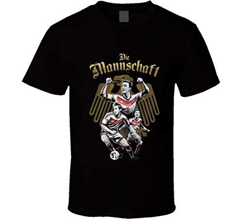 WM Deutschland T-Shirt Nick Name Die Mannschaft WM 2014 Finale Teams Trikot Gr. XXL, Schwarz