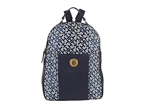 Tommy Hilfiger Roxy II-Backpack-Geometric Jacquard Navy/White One Size