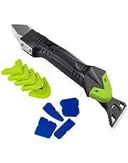 Raburt 5-in-1 siliconen afdichtingsgereedschap remover home kit mortel schraper mortel gladde set kalkafslag sealant gereedschap voor tegels keuken badkamer vloer