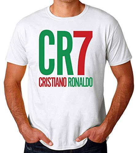 Wicked Design CR7 Cristiano Ronaldo Camiseta para Hombres Small