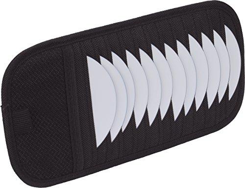 HRimotion CDAblage (Organizer) für die Sonnenblende mit extra Fach & Stifthalterung [Fasst 12 CDs , Gummizugbefestigung]  10510501