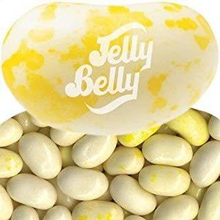 FirstChoiceCandy Jelly Belly Buttered Popcorn Flavor Pastel Yellow Fresh Jelly Beans 2 Pound Resealable Bag