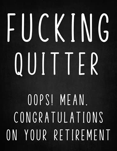 Retirement Gifts For Women: Oops ! Mean.Congratulations On Your Retirement: Retirement Gift for Men,Teachers, Nurses, Retiree,Coworkers, Sisters, Mom…-Funny Happy Retirement Gifts