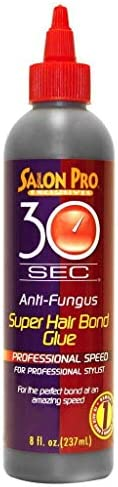 Salon Pro 30 Sec. Super Hair Bond Glue Professional Speed, 8 Ounce