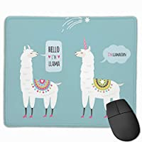 """Llamas Vector Mouse Pad Non-Slip Rubber Gaming Mouse Pad Rectangle Mouse Pads for Computers Desktops Laptop 9.8"""" x 11.8"""""""