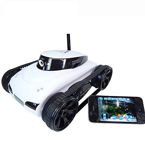 MCJL RC Tank, 0.3MP WiFi Camera Robot car Mobile Phone Remote Control Robot Battle Tank APP Children Remote Control Toy,White
