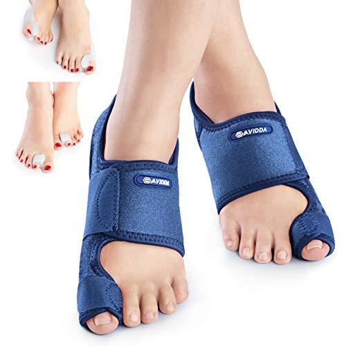 AVIDDA Bunion Corrector,Orthopedic Toe Separators,Bunion Pain Relief,Non-Surgical Hallux Valgus Correction Bunion Splint Corrector for Men and Women,Day Night Support