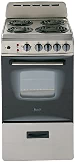 20 inch electric range stainless steel