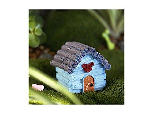 Milpo Hübscher Miniatur-Blumenkasten für den Garten/Haus, Dekoration für Zuhause (blau), Kleine Verzierungen
