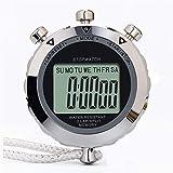 Jinzsnk Cronometro Digitale Sportivo Cronometro Digitale di Sport Corsa Walking cronometro batterie Incluse per equipaggiamento Arbitro per Allenatori (Color : As Shown, Size : 7.4x6.0x1.5cm)