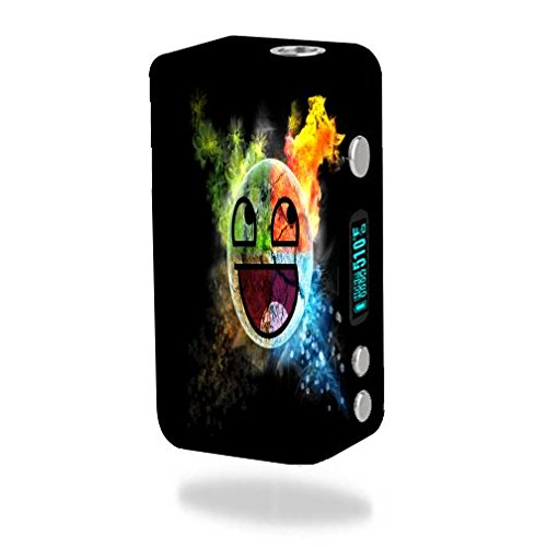 Decal Sticker Skin WRAP Smiley Face for Smok Koopor Plus 200W