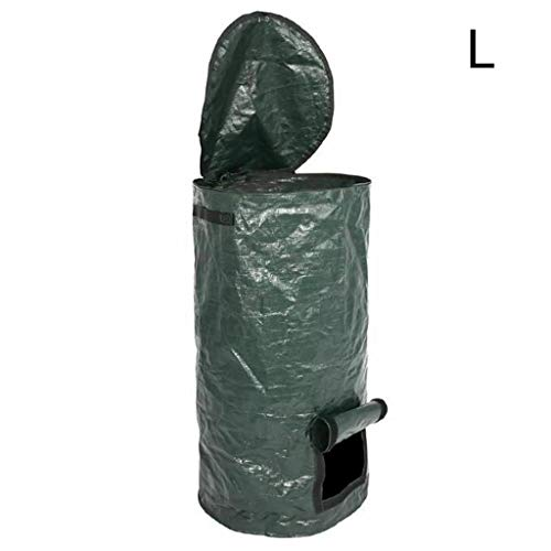 Great Deal! Garden Compost Bags with Lid, Collapsible Environmental Organic Ferment Waste Collector ...