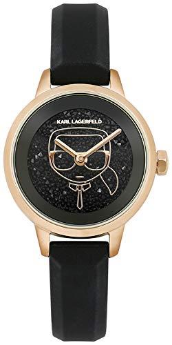 Karl lagerfeld Jewelry ikonik Damen Uhr analog Quarzwerk mit Silikon Armband 5513089
