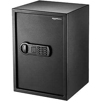 Stash Safe AmazonBasics Home Keypad Safe - 1.8 Cubic Feet, 13.8 x 13 x 19.7 Inches, Black - 50SAM