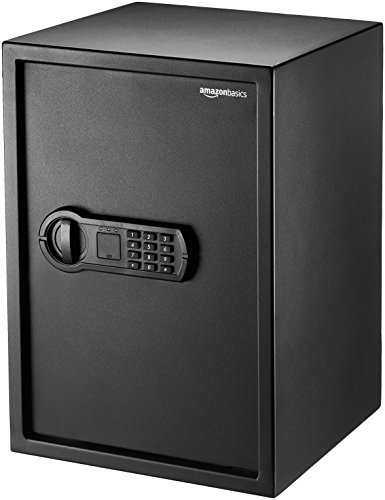 AmazonBasics Home Keypad Safe - 1.8 Cubic Feet, 13.8 x 13 x 19.7 Inches, Black - 50SAM